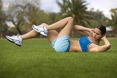 Вправи для живота і ніг